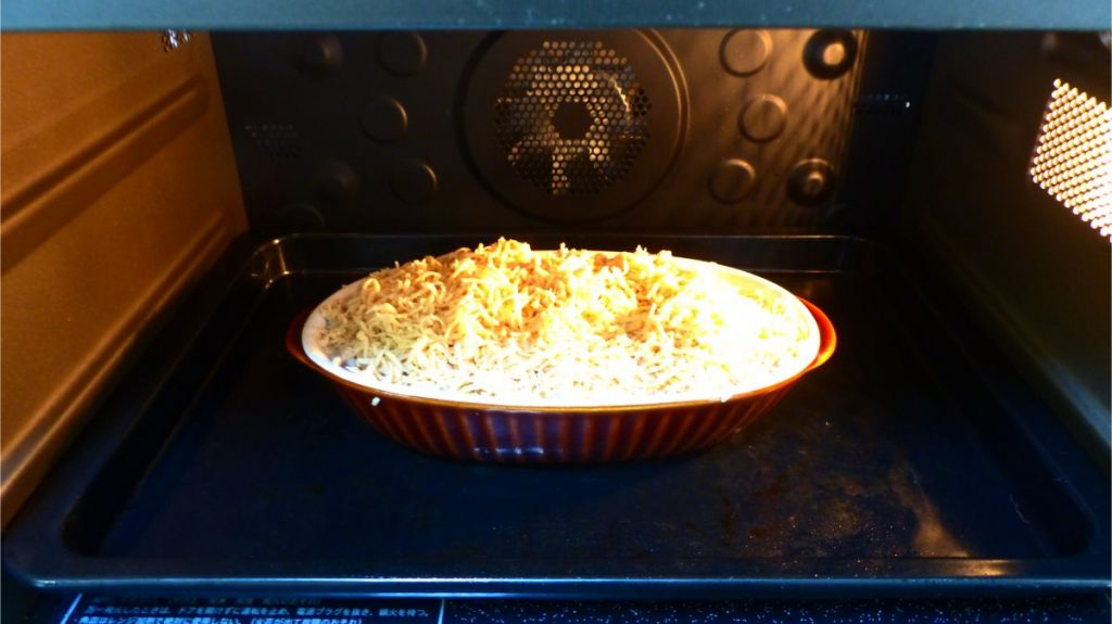 170℃のオーブンで15分ほど焼く